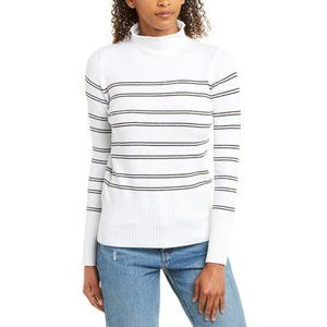 French Connection BNWT roll neck Stripe Sweater L